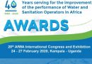 AfWA awards to innovative projects and best professional networks